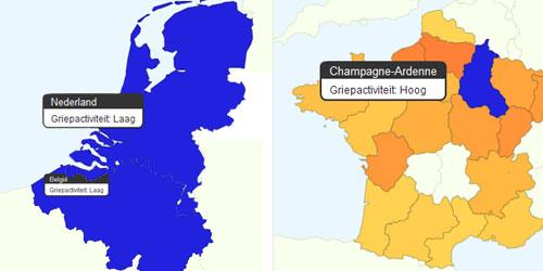 grieptrends_belgie_nederland